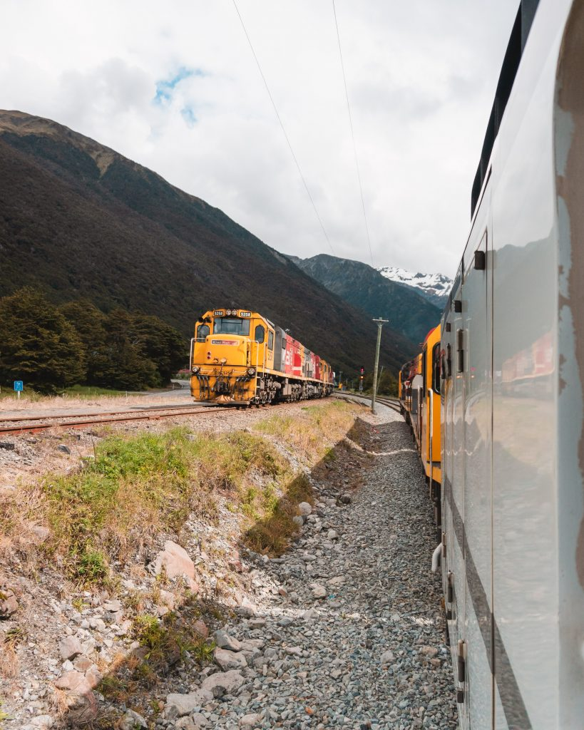 The TranzAlpine train journey is a must do when on New Zealand's South Island! The route runs from Christchurch to Greymouth via Springfield, Arthur's Pass and Moana.