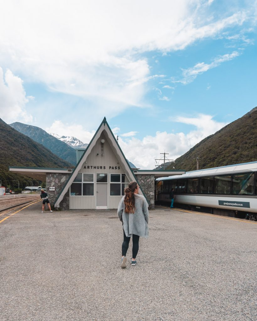 Make sure to hop off for a few minutes at Arthur's Pass on the way back to Christchurch when travelling by train