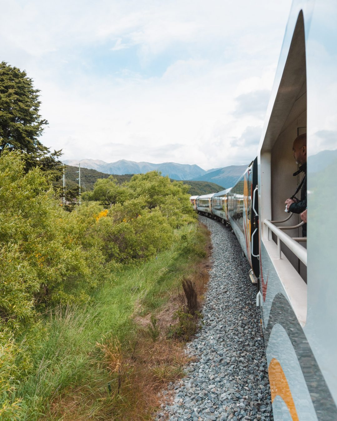 One of the most scenic train rides in the world is the TranzAlpine across New Zealand's South Island