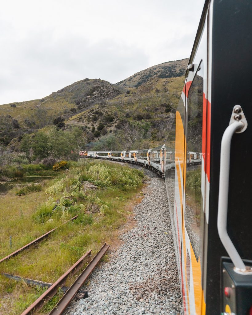 Don't forget to get cash out for the TranzAlpine journey as most cards don't work on the train when there's no signal!