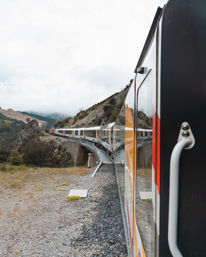 On the TranzAlpine from Christchurch to Greymouth you will cross some spectacular viaducts and go through over 15 tunnels.