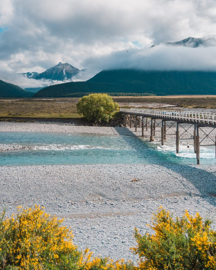 The stretch of the TranzAlpine journey along the Waimakariri River is one of the most scenic parts of the journey