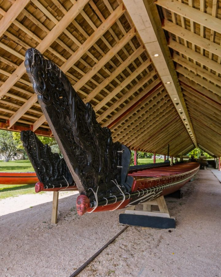 Visit the Waitangi Treaty Grounds to see the world's largest ceremonial war canoe