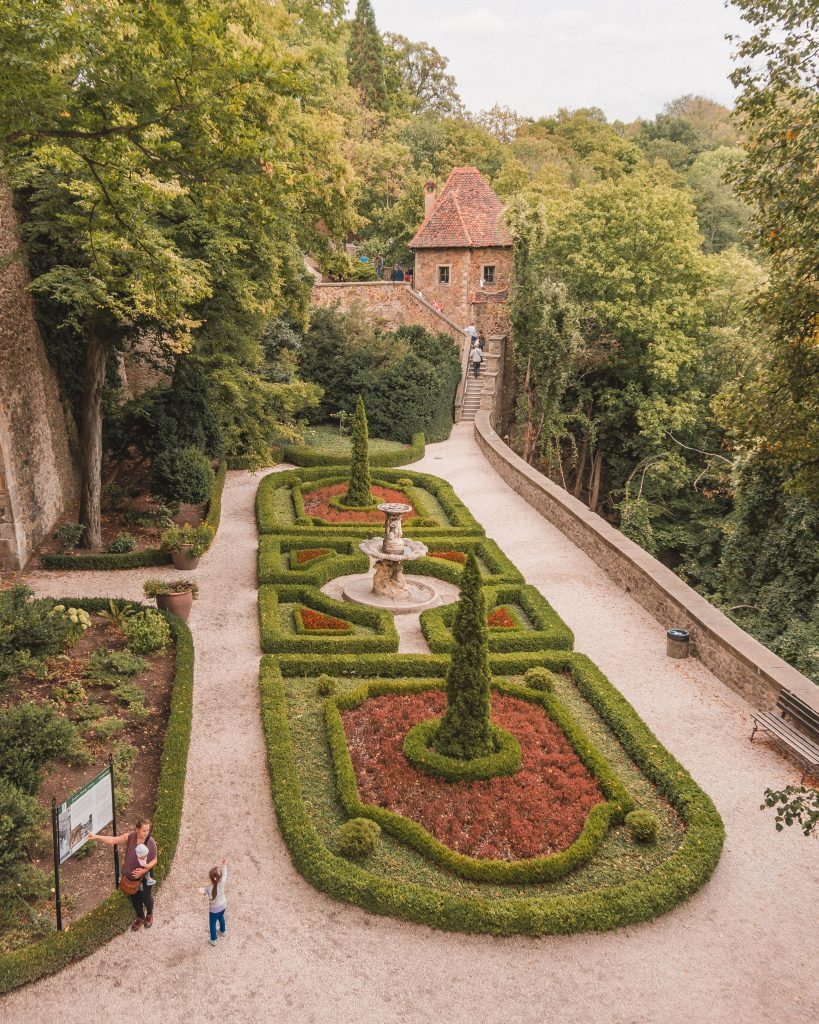The exterior gardens of Ksiaz Castle are beautiful