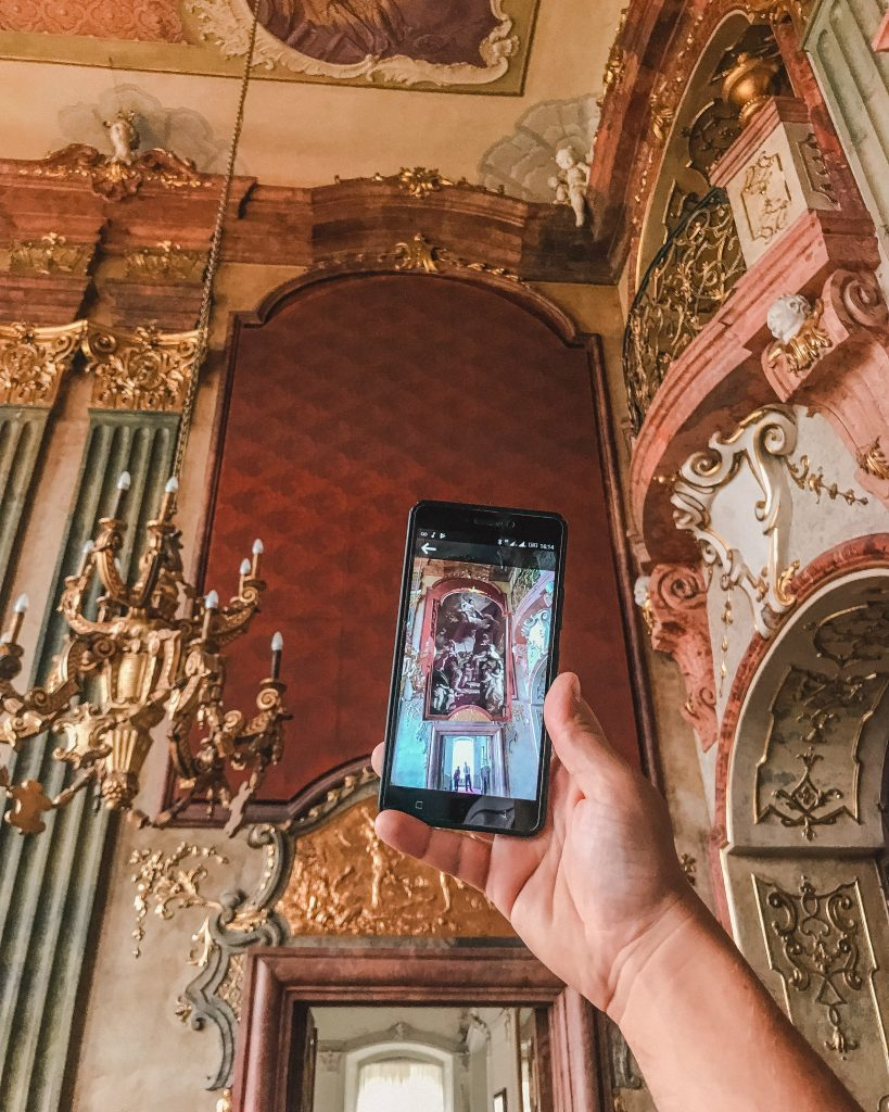The WOWPoland app can be used for a virtual guide at Ksiaz Castle