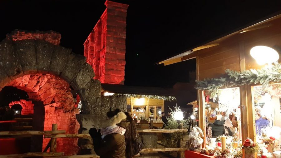 A visit to Aosta Christmas market in the Roman amphitheatre is a must do in Aosta