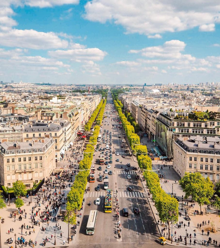 The view from the Arc de Triomphe offers stunning views over Paris and is one of my favourite Paris viewpoints.