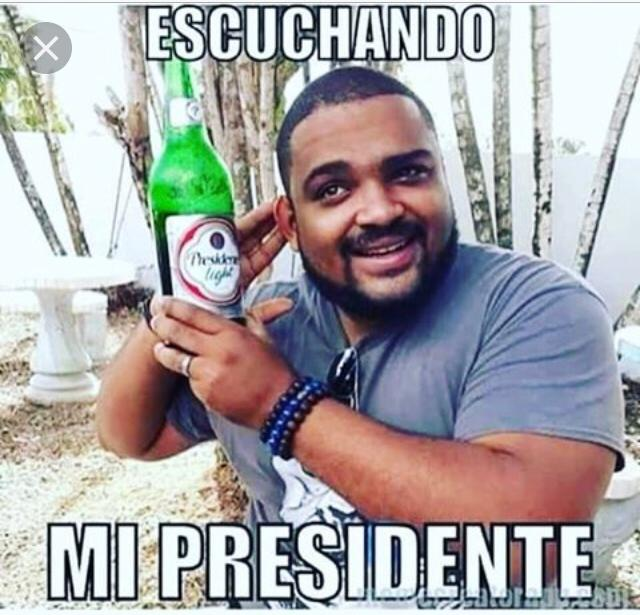Presidente is the local beer of the Dominican Republic