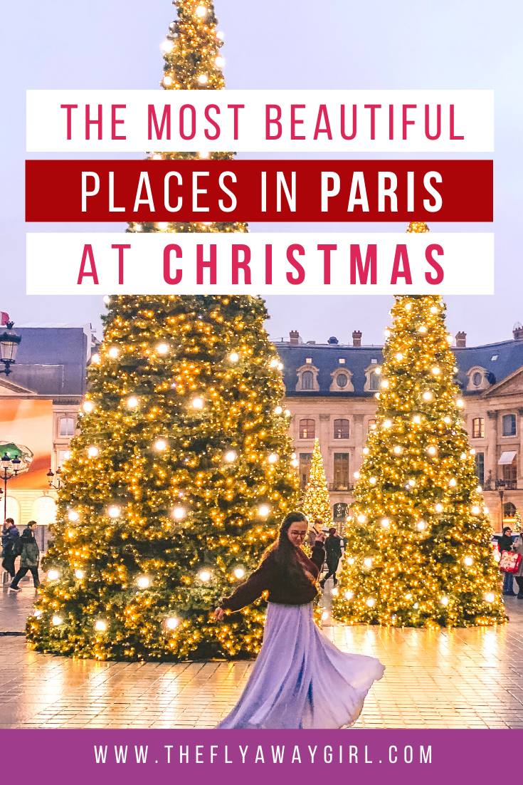 There are so many amazing Christmas decorations in Paris! Paris at Christmas is truly a festive wonderland and these spots are exactly why you should visit Paris in winter. Paris Christmas markets are the best reason to spend winter in Paris - enjoy hot mulled wine and eat delicious waffles and enjoy the beautiful Christmas lights in Paris!