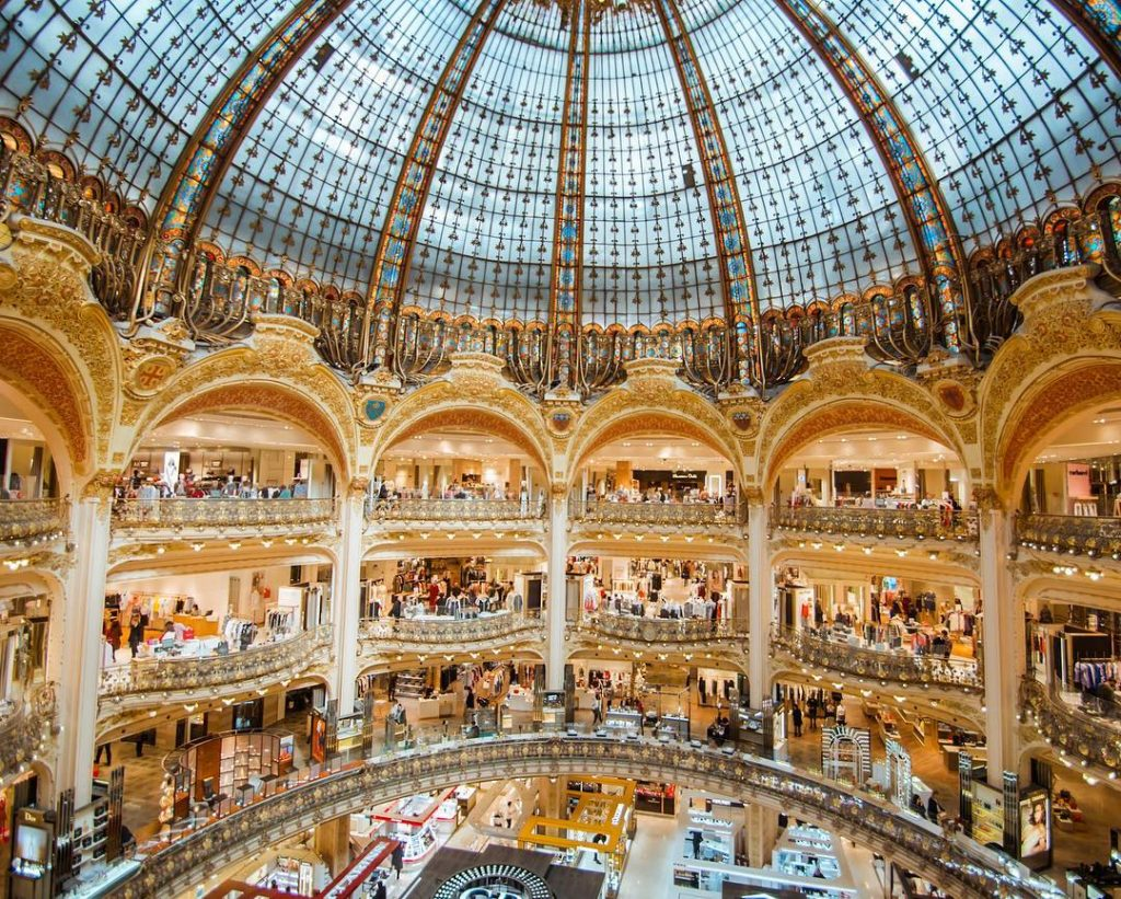 One of the most beautiful places in Paris is the stunning Galeries Lafayette #paris