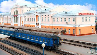 Train travel in Belarus is a great way to explore the country such as the beautiful city of Gomel