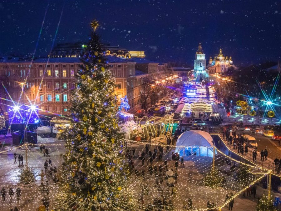 Kiev transforms into a winter wonderland with the beautiful Christmas market in St Sophia Square