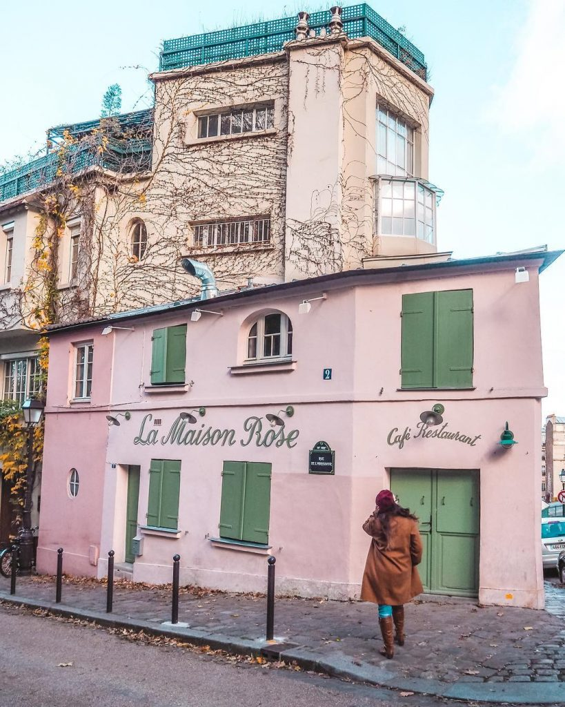 La Maison Rose is definitely a Paris icon with its beautiful pink facade