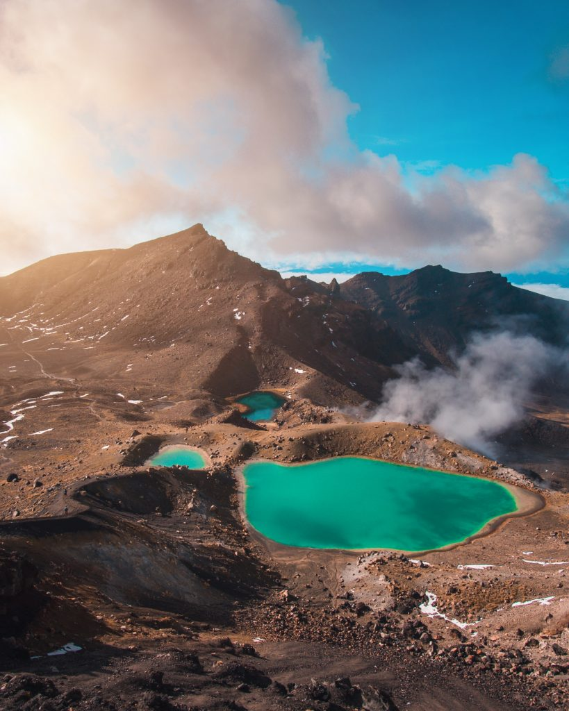 One of the best hikes in New Zealand is the Tongariro Alpine Crossing near Taupo