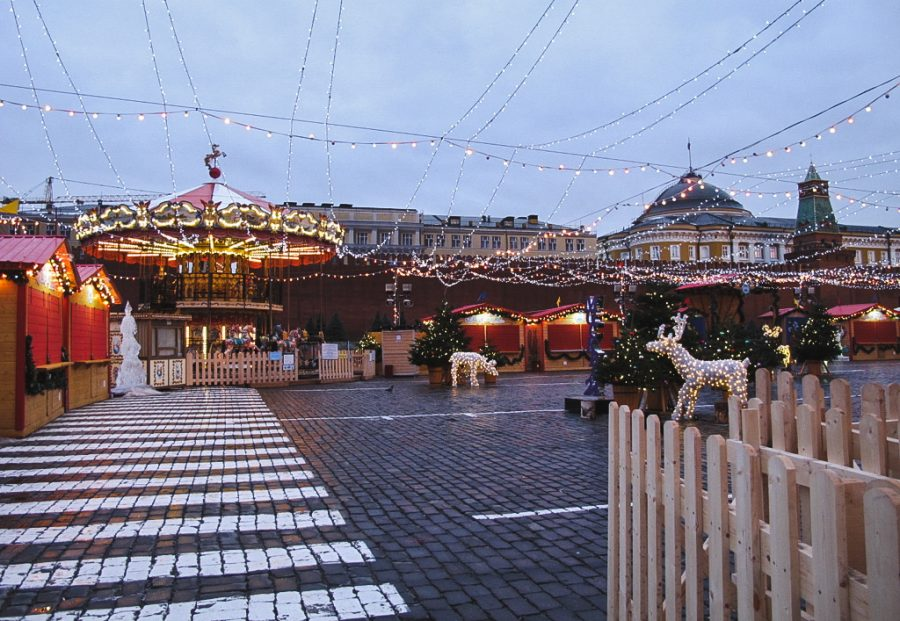 Moscow gets magically festive at Christmas with their holiday markets and beautiful decorations