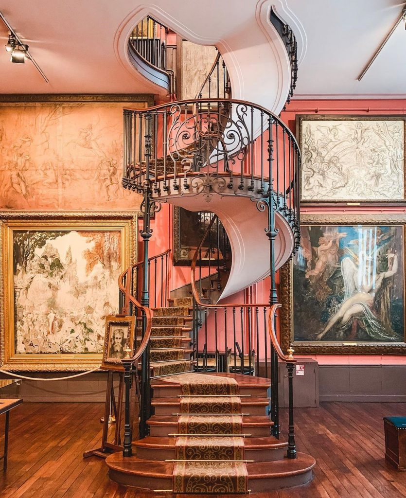 The Musée Gustave Moreau is one of the most instagrammable places in Paris with its beautiful spiral staircase