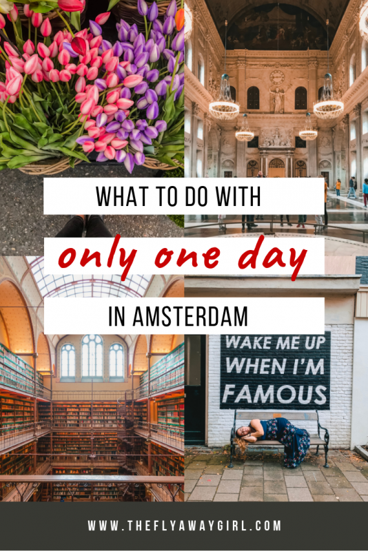 If you have limited time in Amsterdam then this is what to see in Amsterdam in one day. This itinerary will let you see this amazing Dutch city whether you only have 24 hours in Amsterdam or you're only doing a day trip to the city. #amsterdam #holland