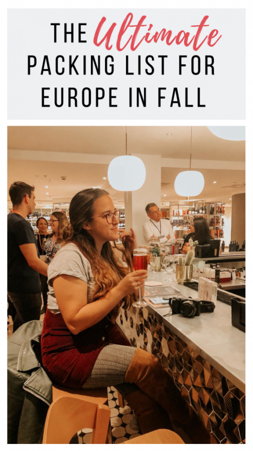 If you're looking for what to pack for Europe in fall then look no further! I've compiled a comprehensive packing list for Europe in fall with everything you need to include to be stylish and comfortable on your travels.