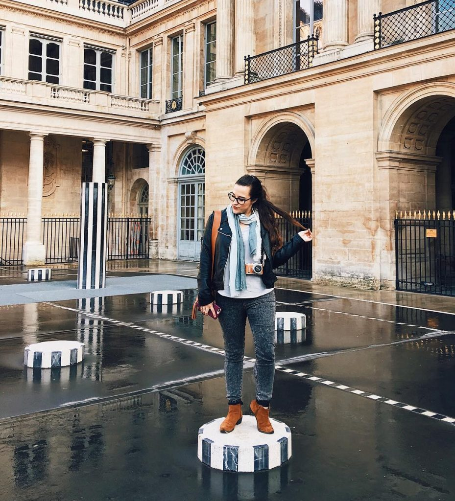 The Palais Royal is a beautiful instagram place in Paris, plus don't forget to visit Cafe Kitsuné for a coffee or a matcha latte.