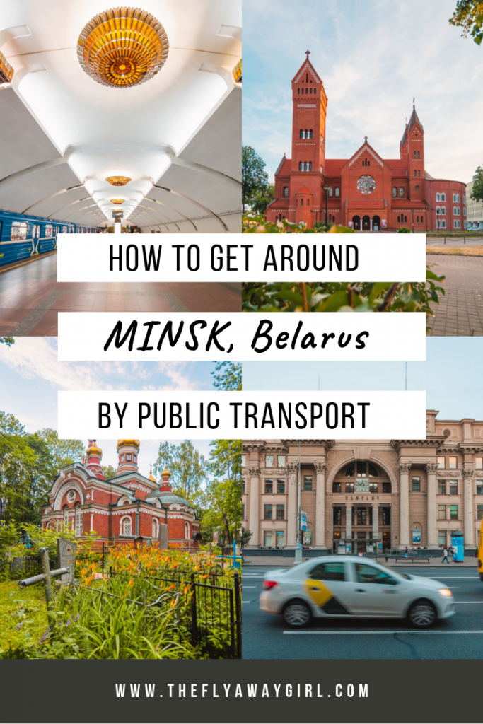 Minsk, Belarus is an amazing city but can be intimidating to first-time visitors due to everything being in Cyrillic. This guide to Minsk travel will explain the public transport and taxis in the city so you can have an amazing Minsk trip and enjoy your travel in Belarus! #minsk #belarus #travelguide