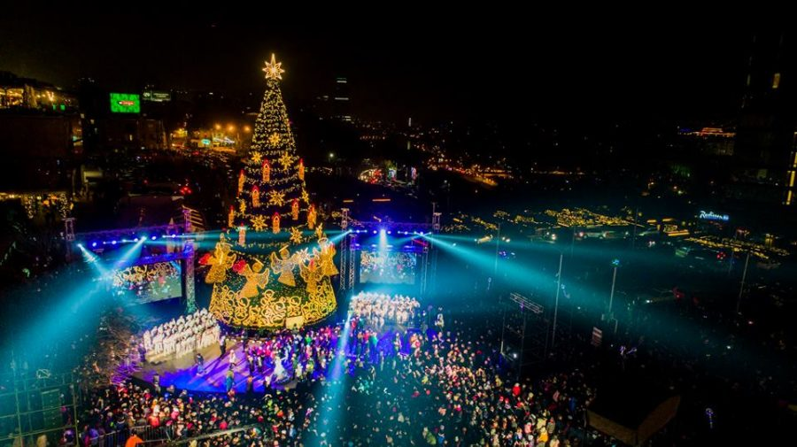 The Tbilisi Christmas Market can be found in Deda Ena Park and the city gets lits up with amazing displays of lights