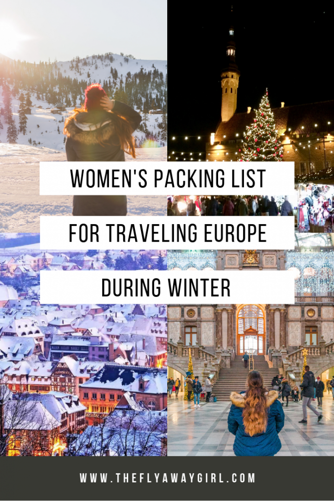 The ultimate women's packing list for Europe in winter! Read on for clothing suggestions and top outfit ideas for winter in Europe.
